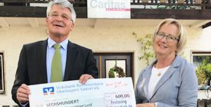 Spende für die Caritas